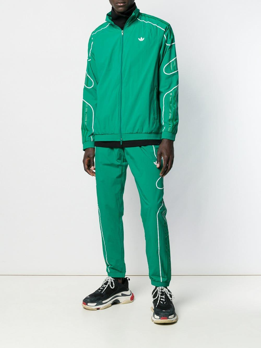 21f825e56 Lyst - adidas Zip-up Logo Jacket in Green for Men
