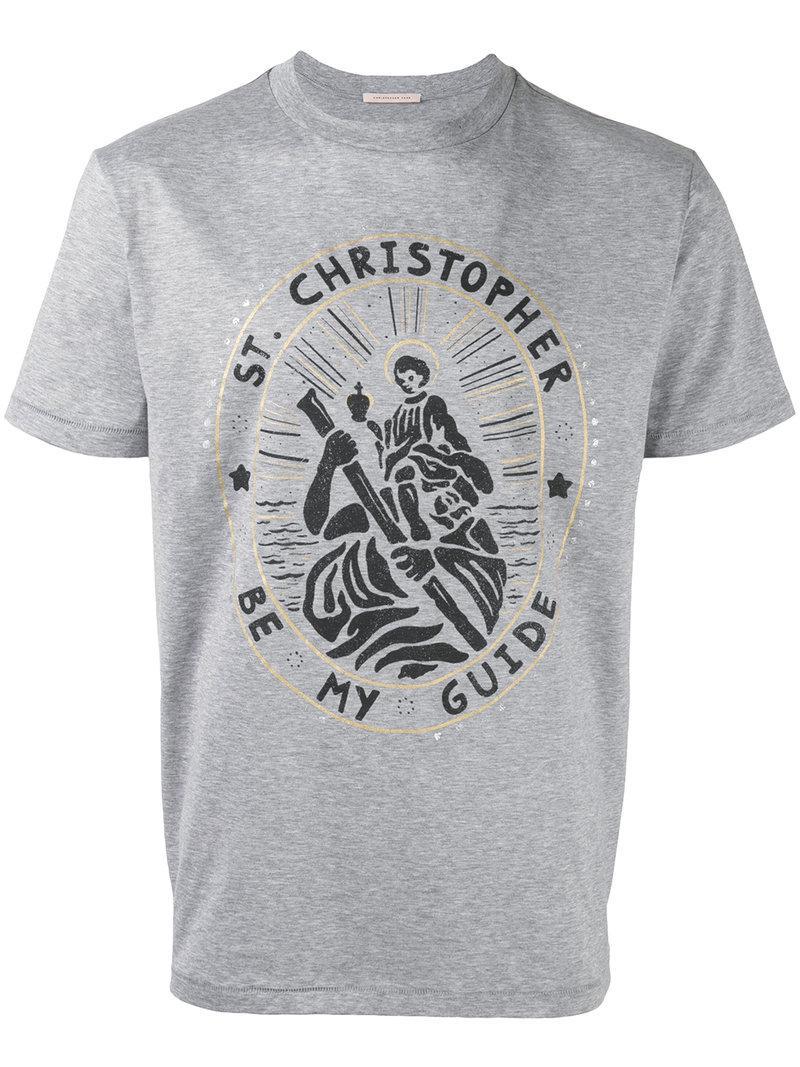 Saint Christopher T-shirt - Grey Christopher Kane Footlocker Finishline Sale Online 2018 Unisex For Sale WXRKvO