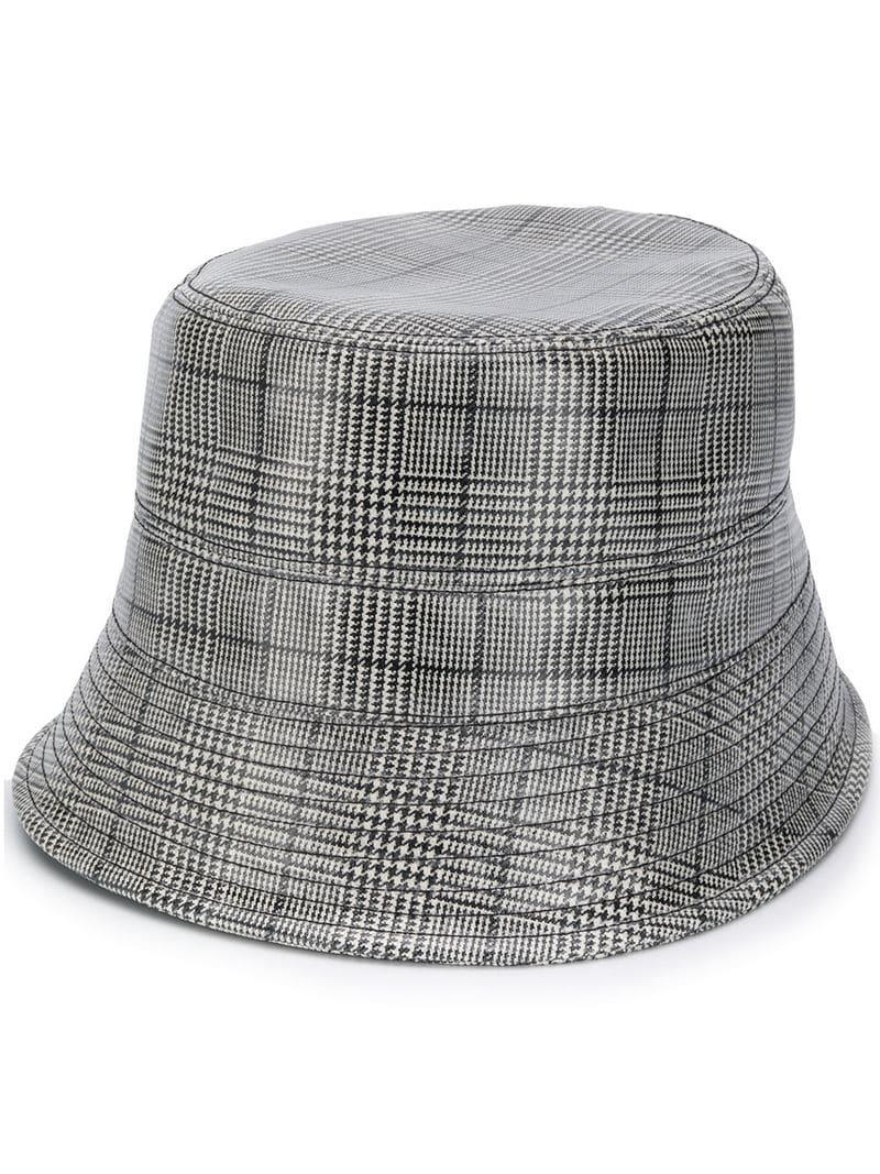 Lyst - Versace Prince Of Wales Bucket Hat in Black for Men 52deb843eb1e