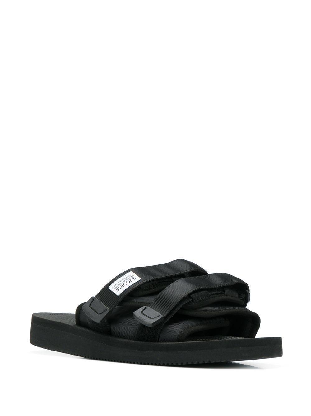 95d49dcfd7c3 Suicoke Black Double Strap Sliders in Black for Men - Lyst