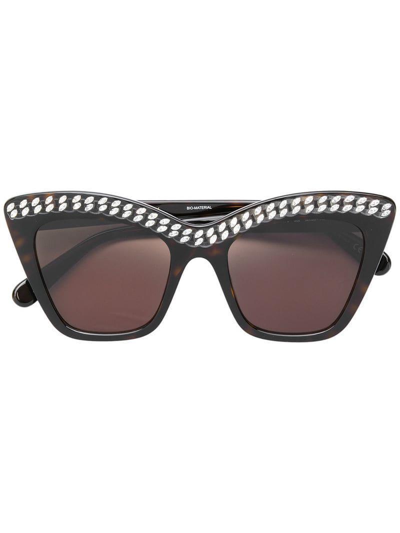 77703c8dcf Lyst - Gafas de sol Falabella oversize Stella McCartney de color Marrón