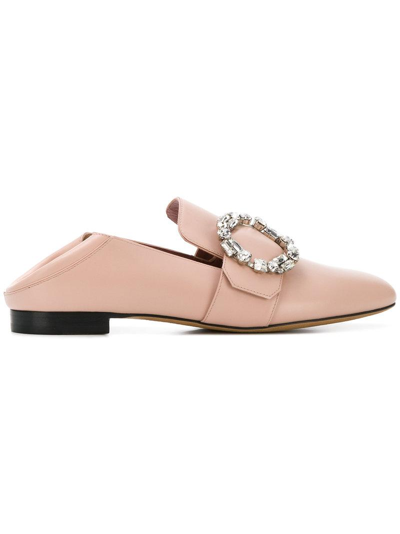 comfortable cheap price cheap shopping online Bally side brooch embellished slippers clearance new styles best online kVEx0XaT7r