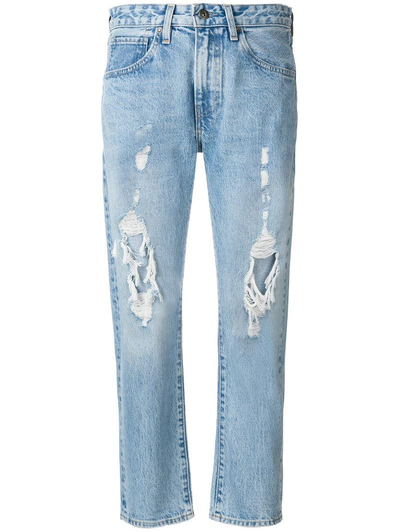 destroyed cropped jeans - Blue Levi's yRzbuN