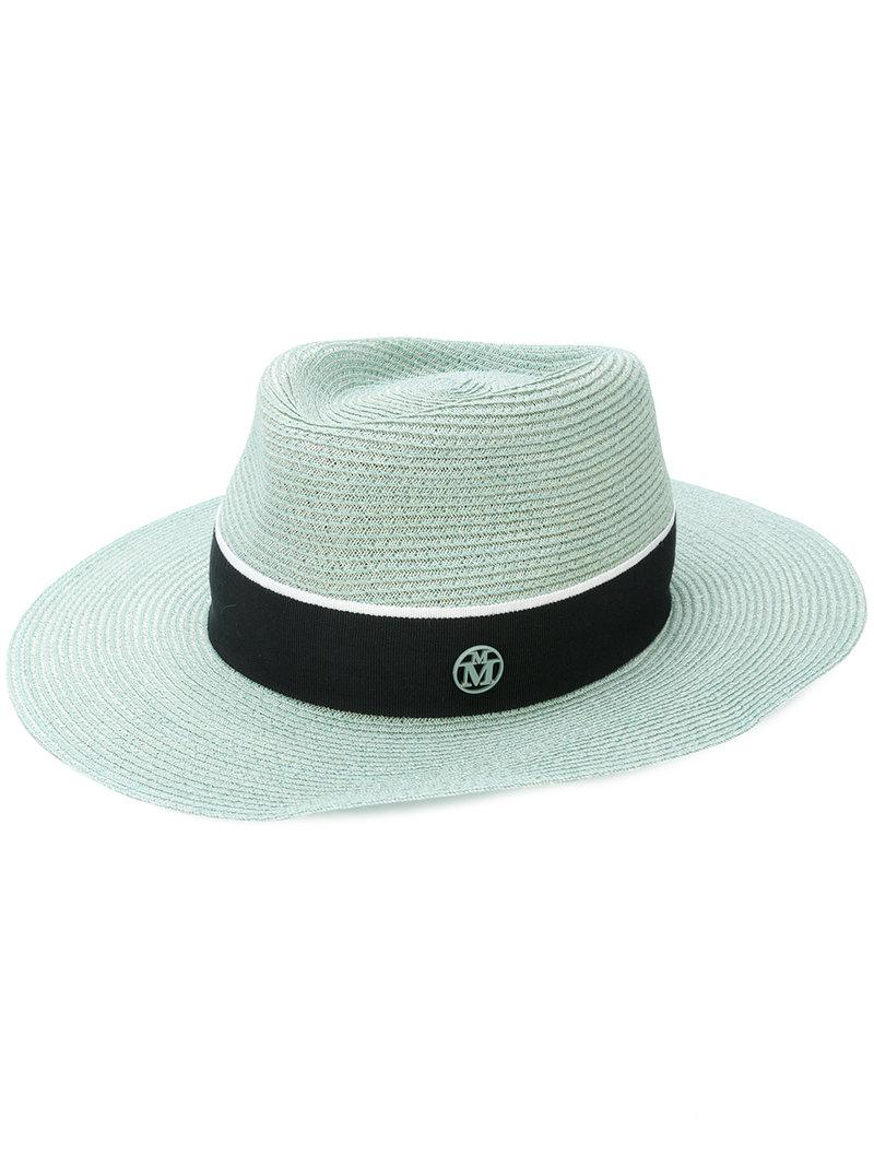 Canapa straw hat - Blue Maison Michel
