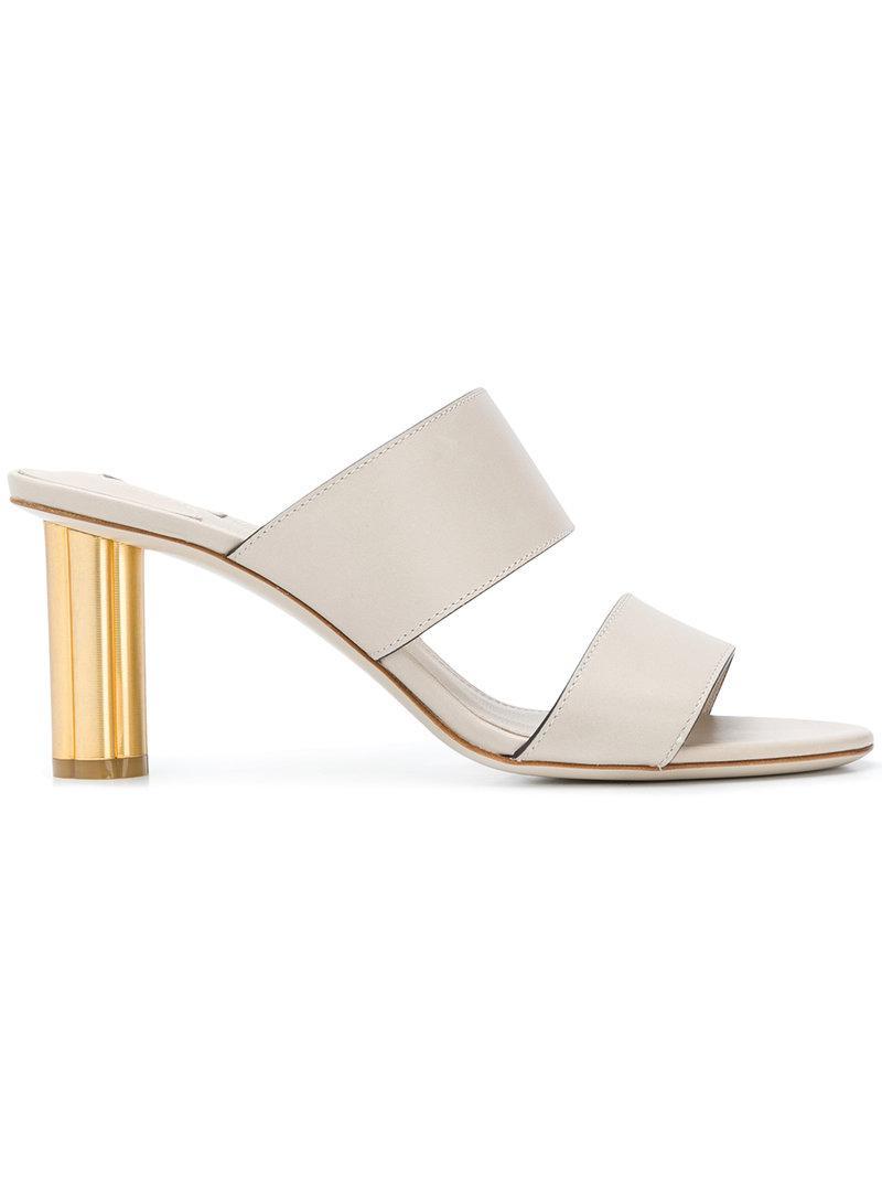 Lyst ferragamo flower heel sandals in white ferragamo white flower heel sandals lyst view fullscreen mightylinksfo