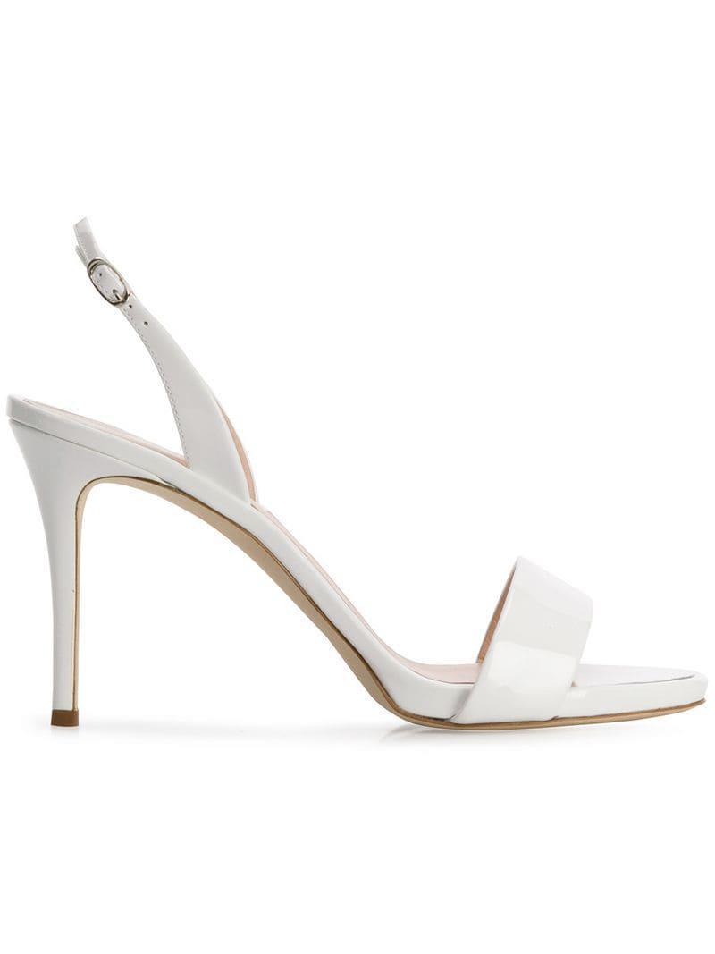 0a44a5fc1864 Giuseppe Zanotti Sofia Slingback Sandals in White - Lyst
