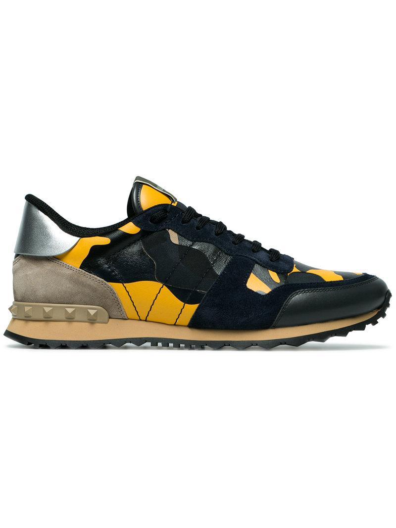 camouflage Rockrunner sneakers - Yellow & Orange Valentino FHrZE