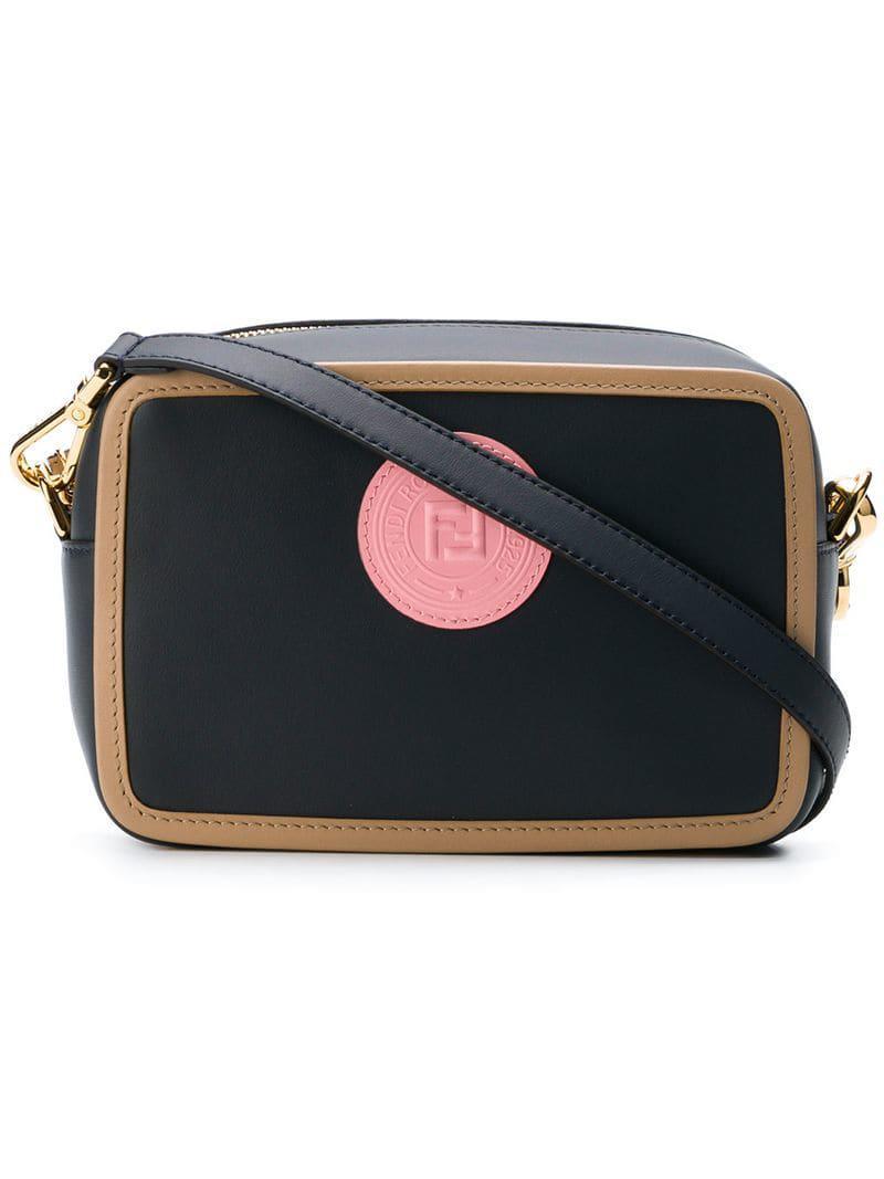 82e77ce8391c Fendi Logo Camera Bag in Blue - Lyst