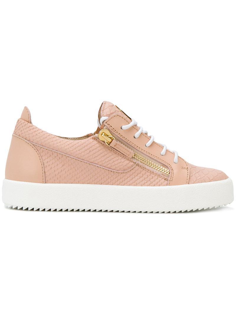 Giuseppe Zanotti Nicki zip detail sneakers Acheter Pas Cher Vente Chaude Vente Pas Cher Geniue Stockiste visite Jeu Manchester Grande Vente wMK4SVB9B5