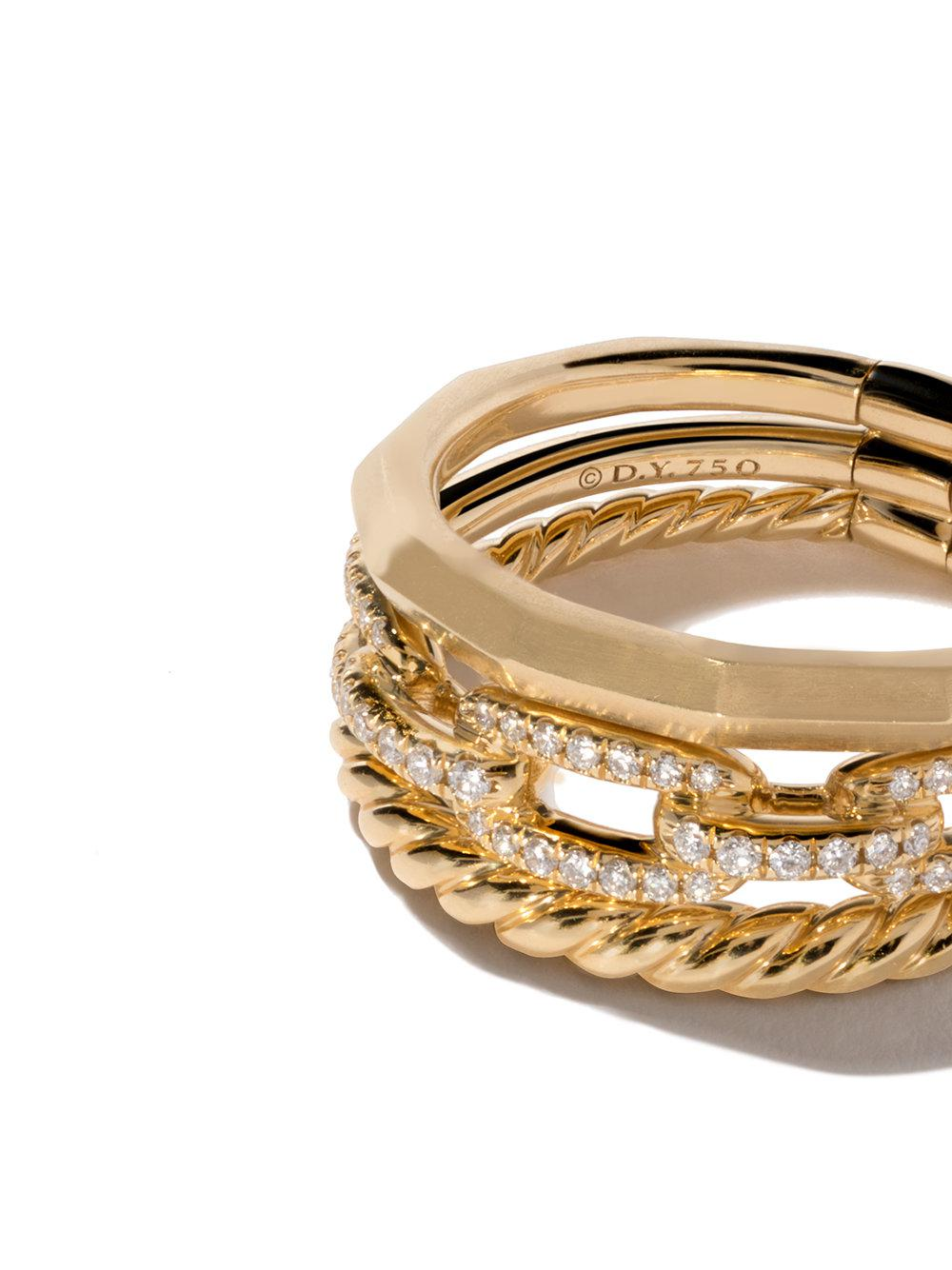 18kt yellow gold Stax diamond narrow ring - Metallic David Yurman 2h6N9