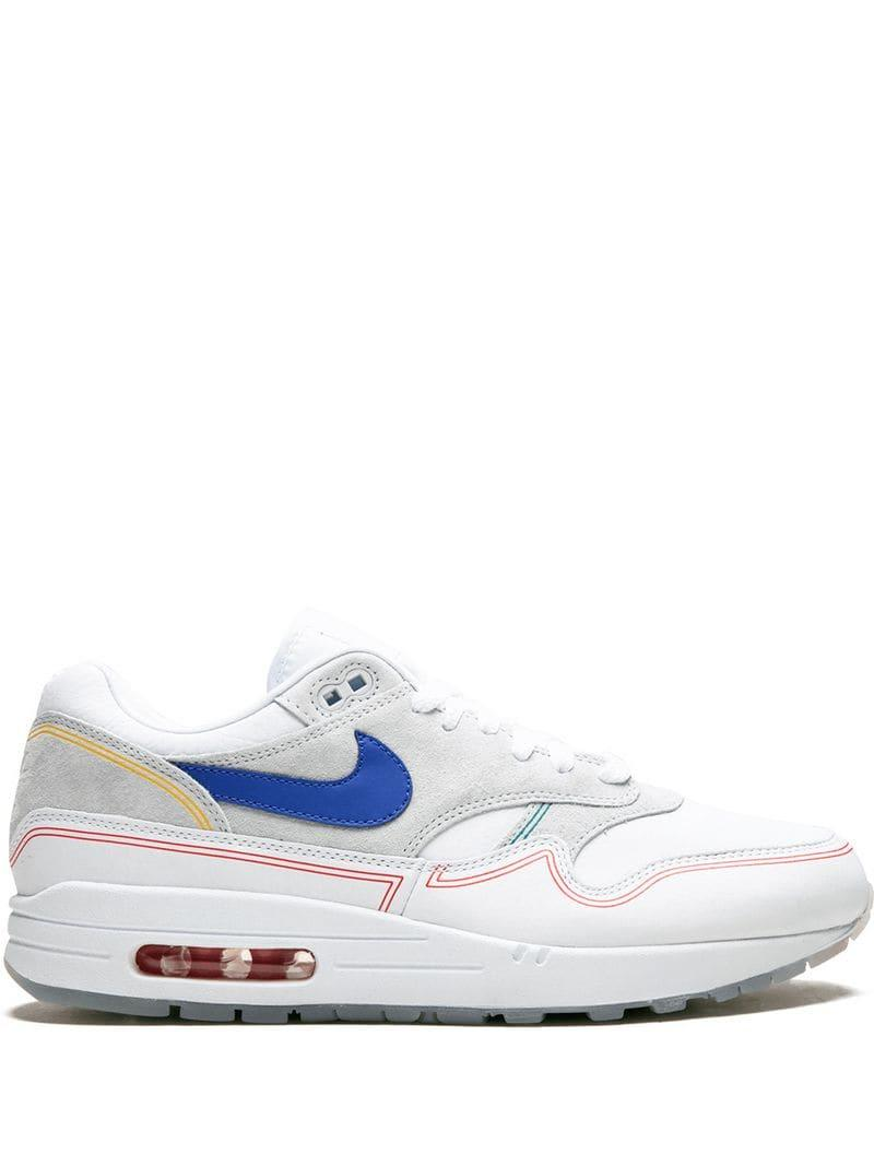 brand new 7f92d df6c0 Nike. Men s White Air Max 1 Sneakers