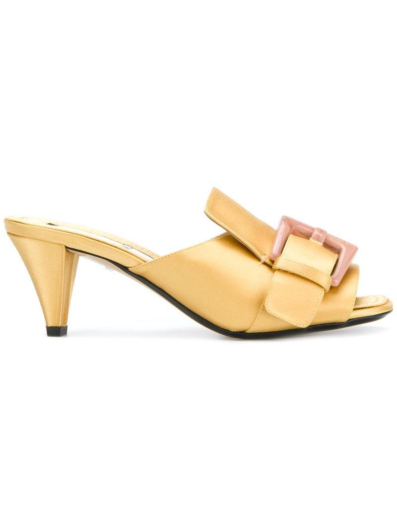 embellished multi-strap heeled sandals - Yellow & Orange N°21 pmL5Q