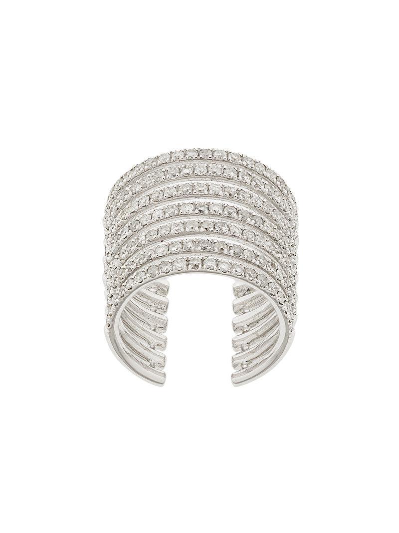 Elise Dray embellished stack ring - Metallic yBPLL7Ru