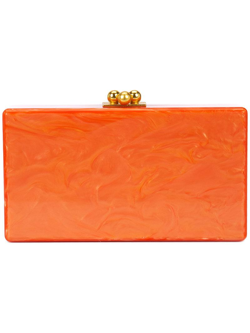 marbled effect clutch - Yellow & Orange Edie Parker With Credit Card Sale Online Explore 8alGXm25k