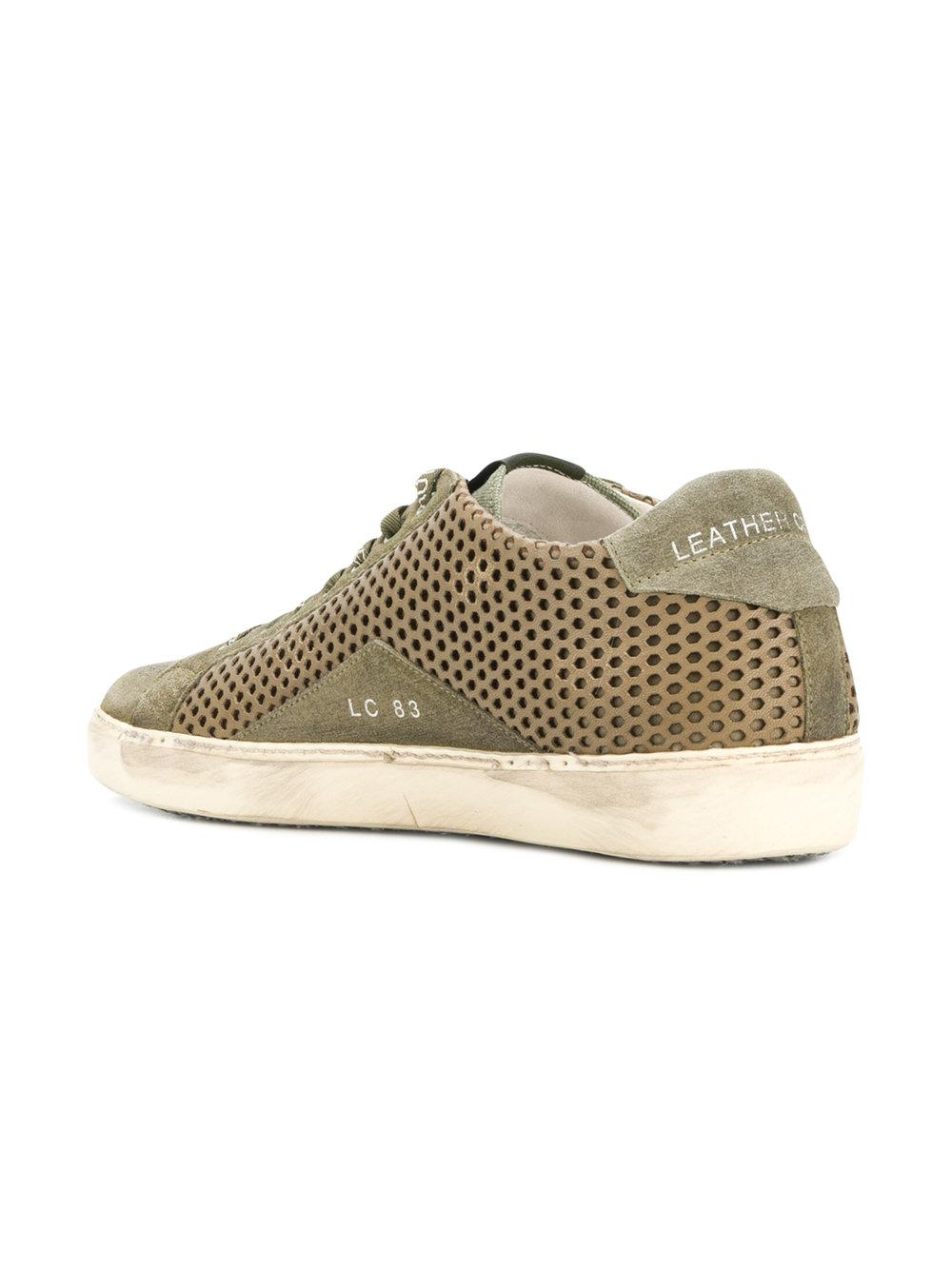 Choice Cheap Price Discount View perforated lace-up sneakers - Green Leather Crown Choice Sale Online Buy Cheap 2018 Newest Sale Limited Edition kJM414lm92