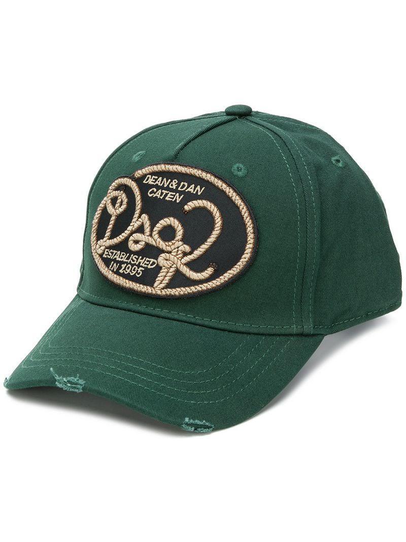 Lyst - Gorra Canadian Cowboys DSquared² de hombre de color Verde b9453c1271c