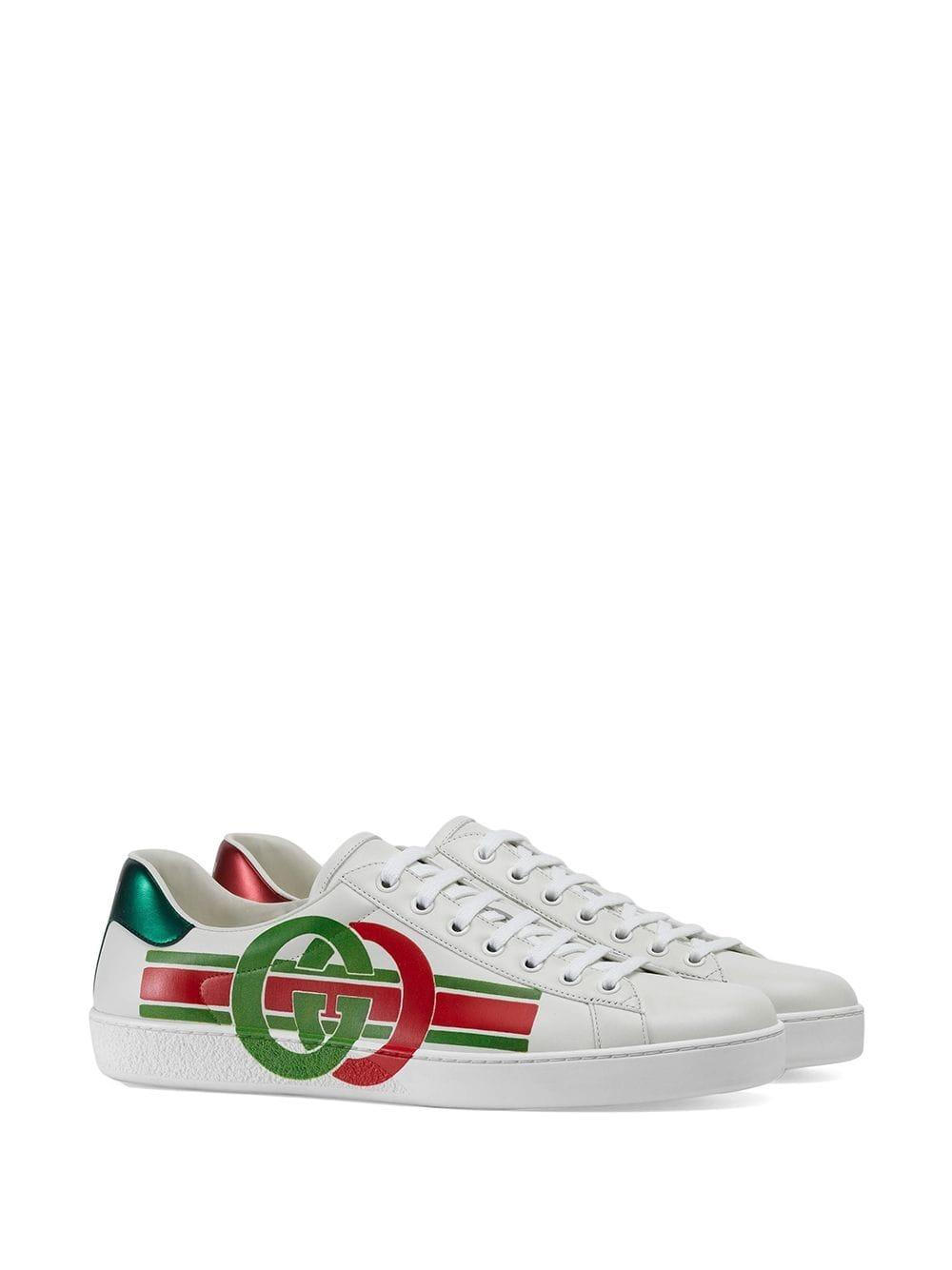 cc55f757f Gucci Ace Sneakers With GG Print in White for Men - Lyst