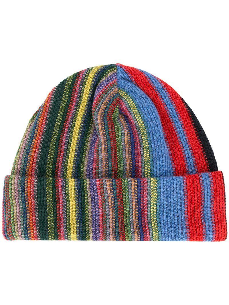b5600123f16 Lyst - Missoni Striped Knit Beanie Hat