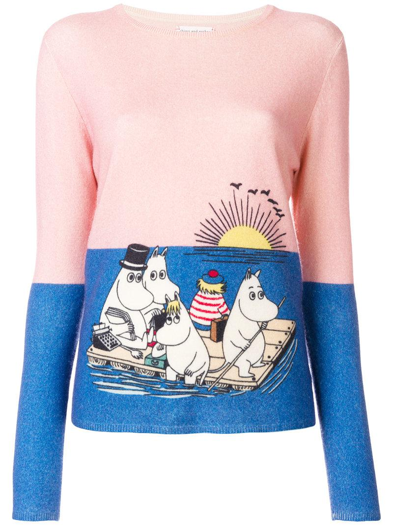 Moomin print T-shirt - Pink & Purple Chinti and Parker Release Dates Authentic Buy Cheap Discounts s6brHPr6