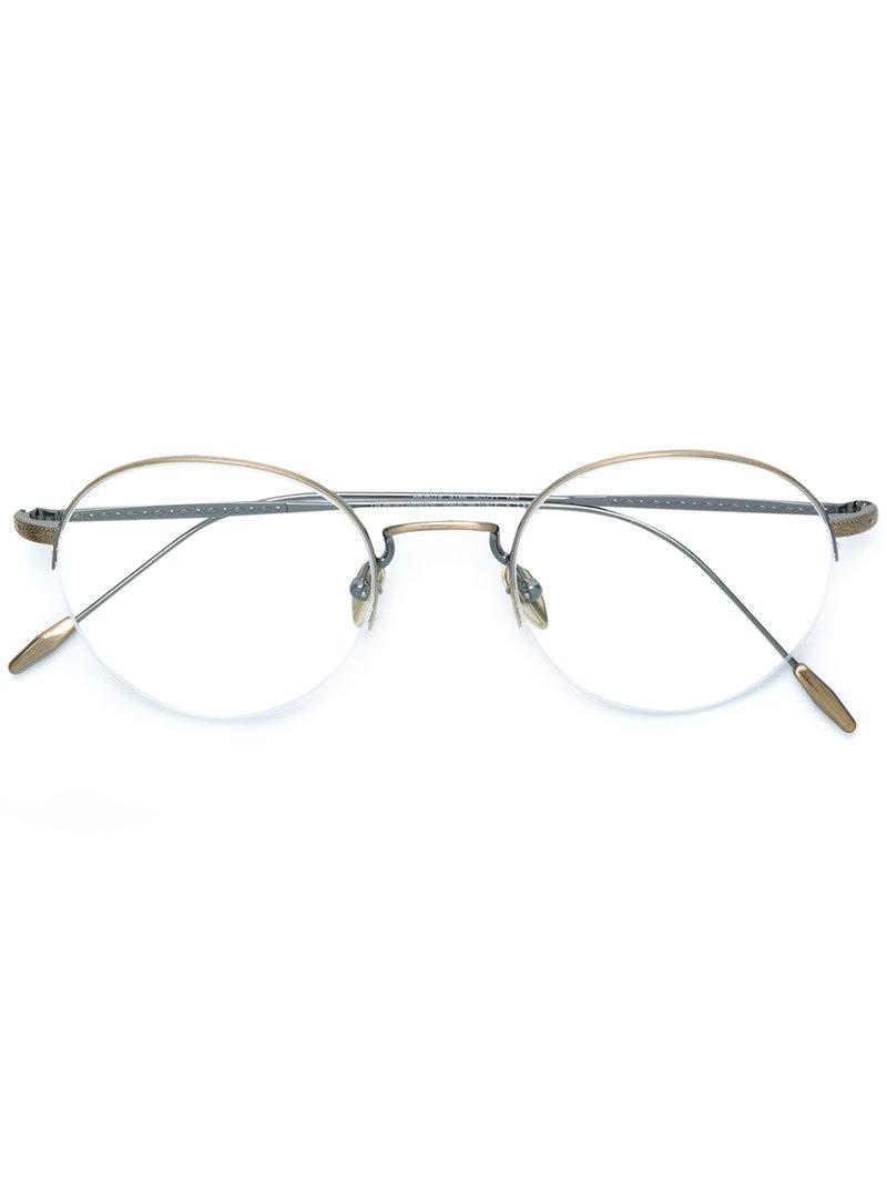 0fb7fd5274 Giorgio Armani Round Glasses in Metallic for Men - Lyst
