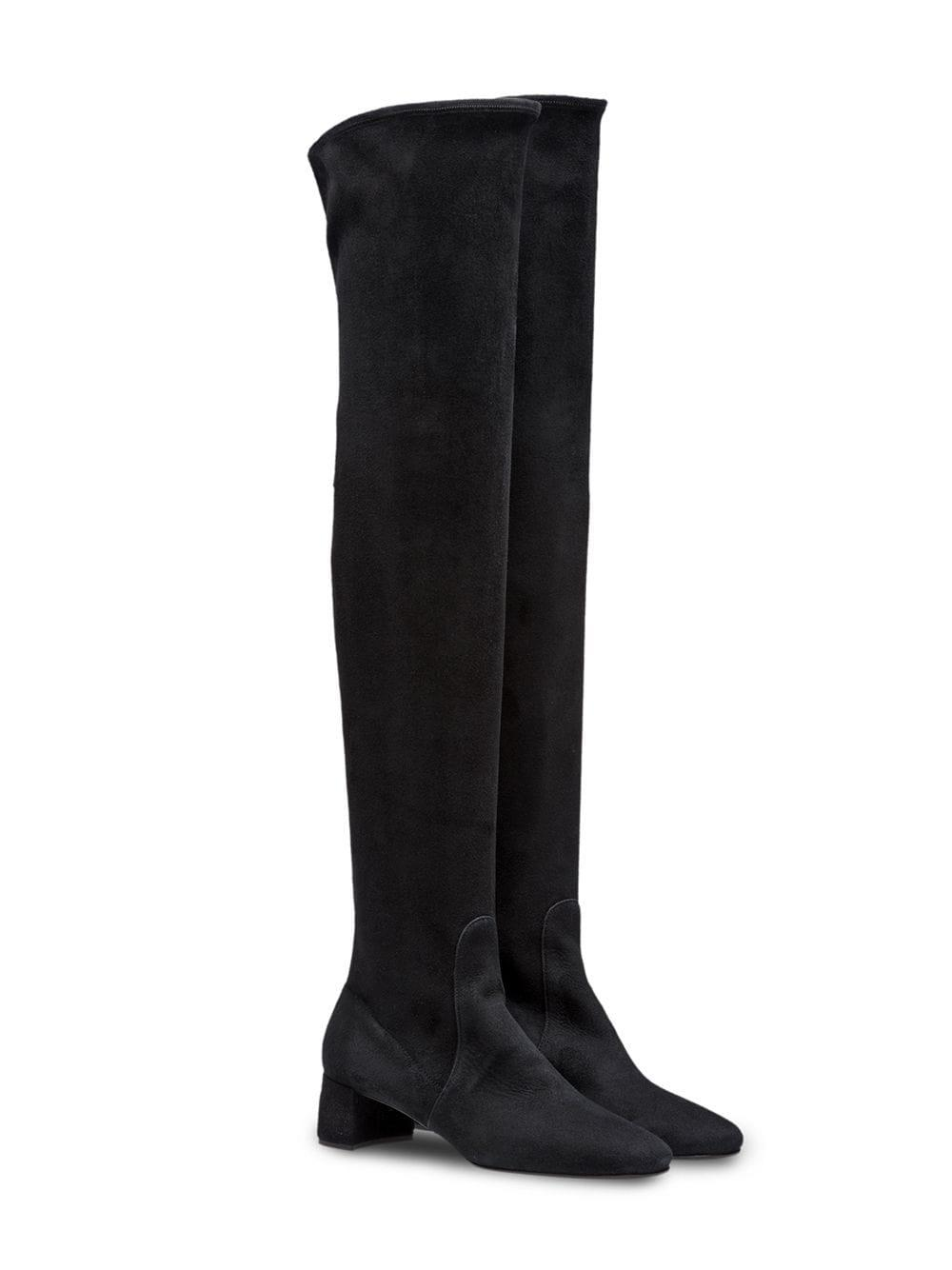 3fd9bd0e9a4 Lyst - Prada Over-the-knee Boots in Black