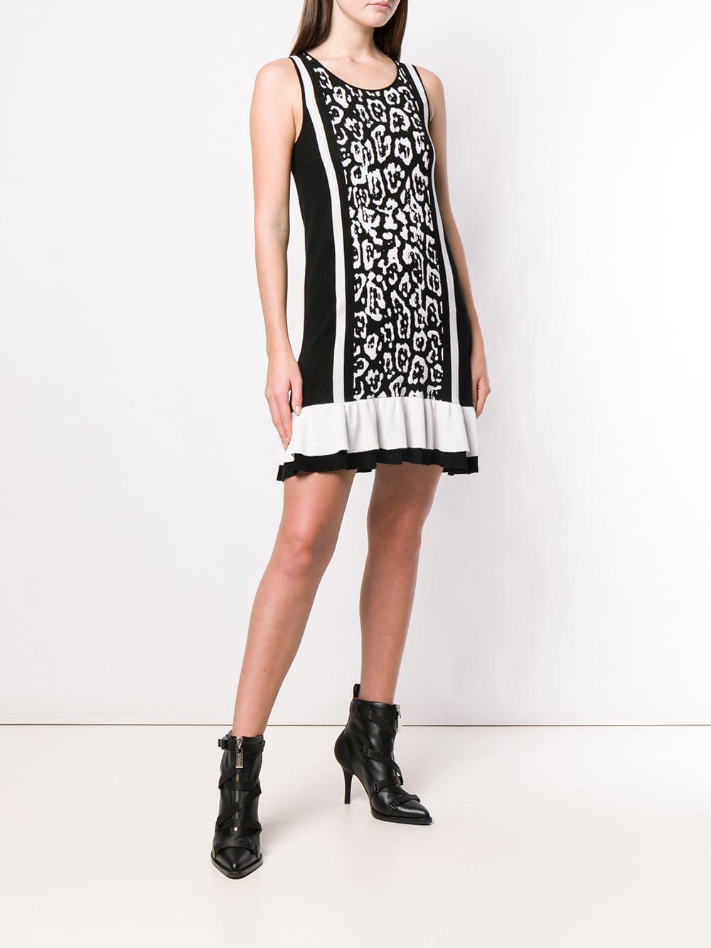 5ddbdcffb9 Just Cavalli - Black Leopard Print Mini Dress - Lyst. View fullscreen