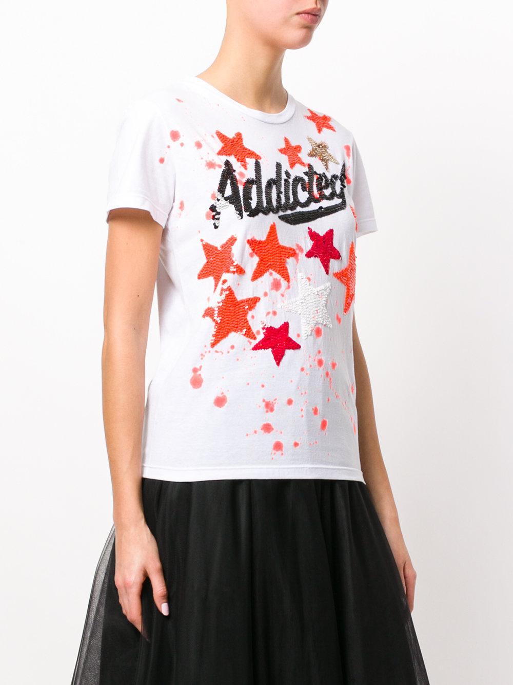 P.A.R.O.S.H. - White Addicted Star T-shirt - Lyst. View Fullscreen