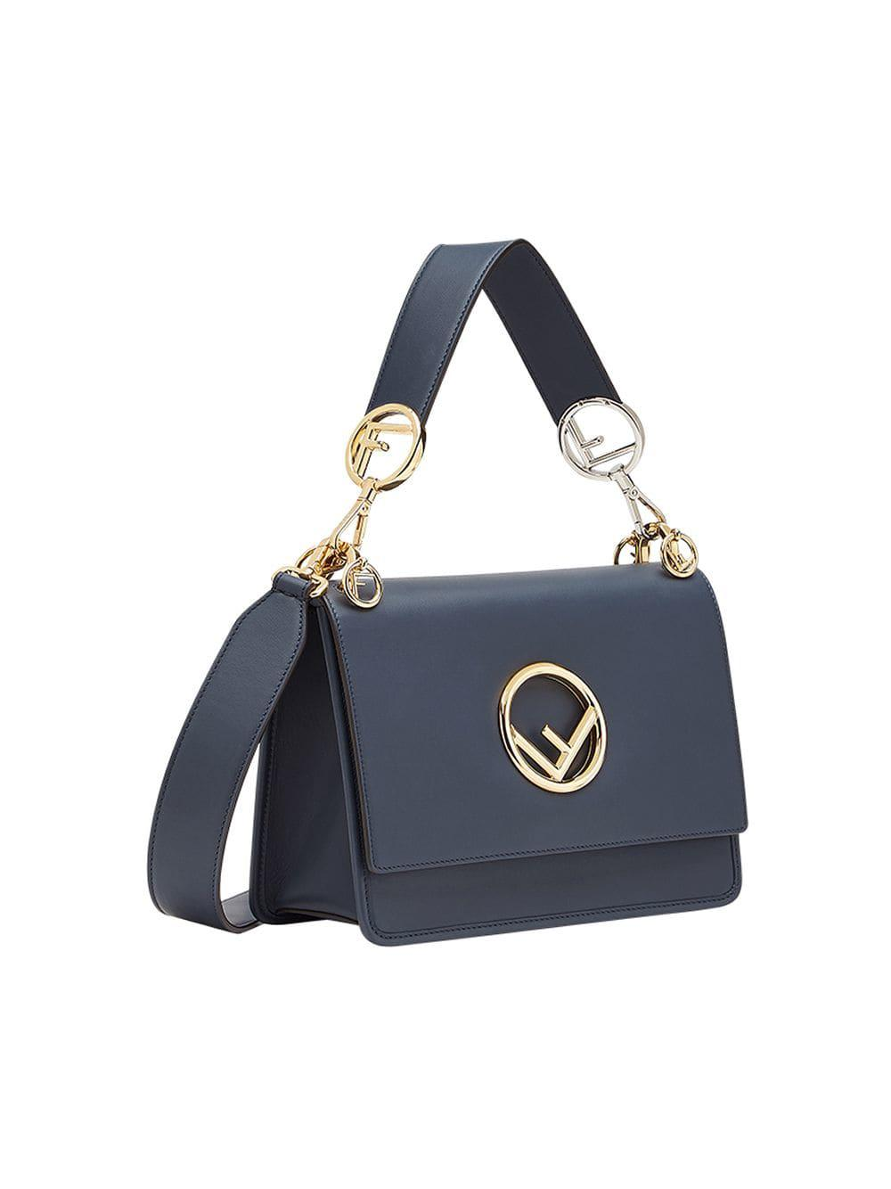 fdbf4dce62e1 Lyst - Fendi Kan I F Shoulder Bag in Blue