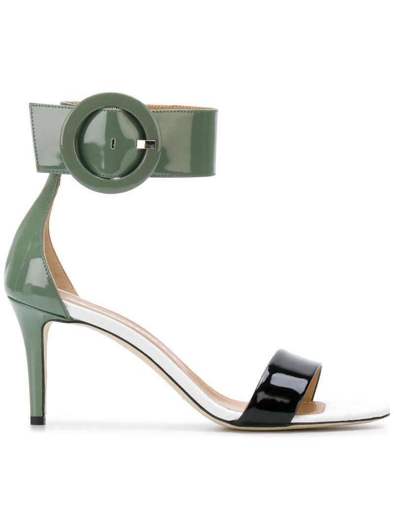 MARC ELLIS Oversized buckle detail sandals Cheap 100% Authentic Amazon Cheap Online Best Place SedmZ