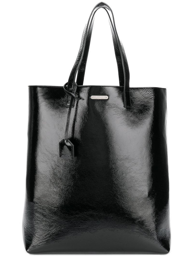 lyst saint laurent borsa modello shopper in black. Black Bedroom Furniture Sets. Home Design Ideas