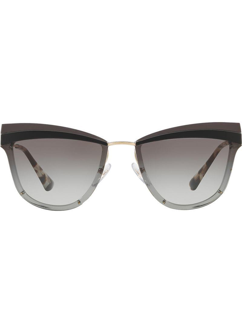 4e7acf9201f7 Prada Cat-eye Shaped Sunglasses in Metallic - Lyst