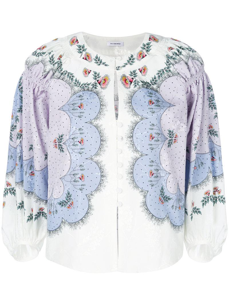 Vilshenko embroidered button blouse Cheap Sale Purchase H920Xi11