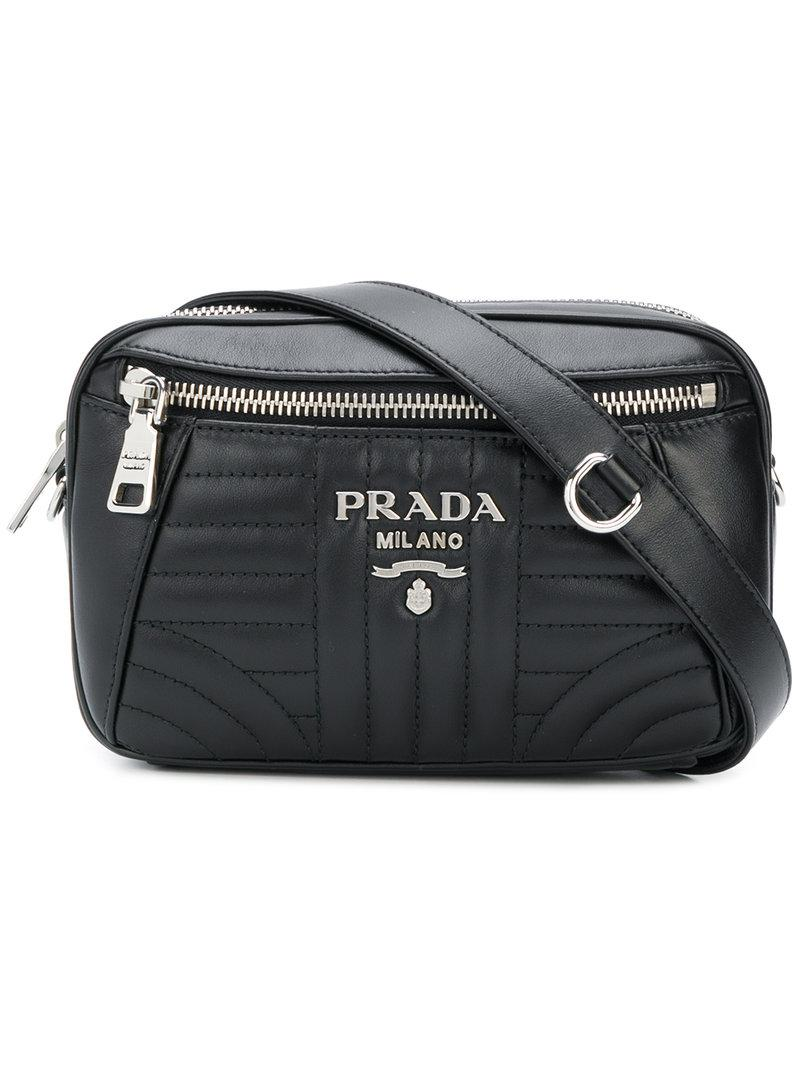 feb00a660201 ... coupon for lyst prada bevelled belt bag in black 24f2e bfced
