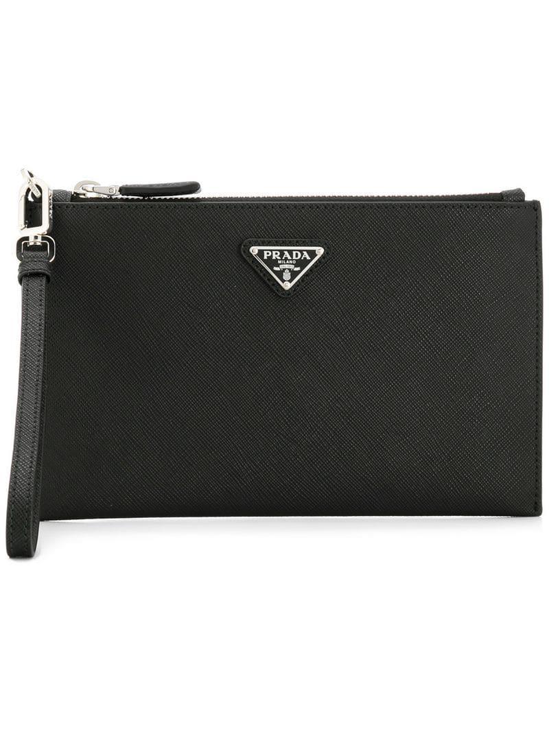 f7e270a924b7fc Prada - Black Small Clutch Bag for Men - Lyst. View fullscreen