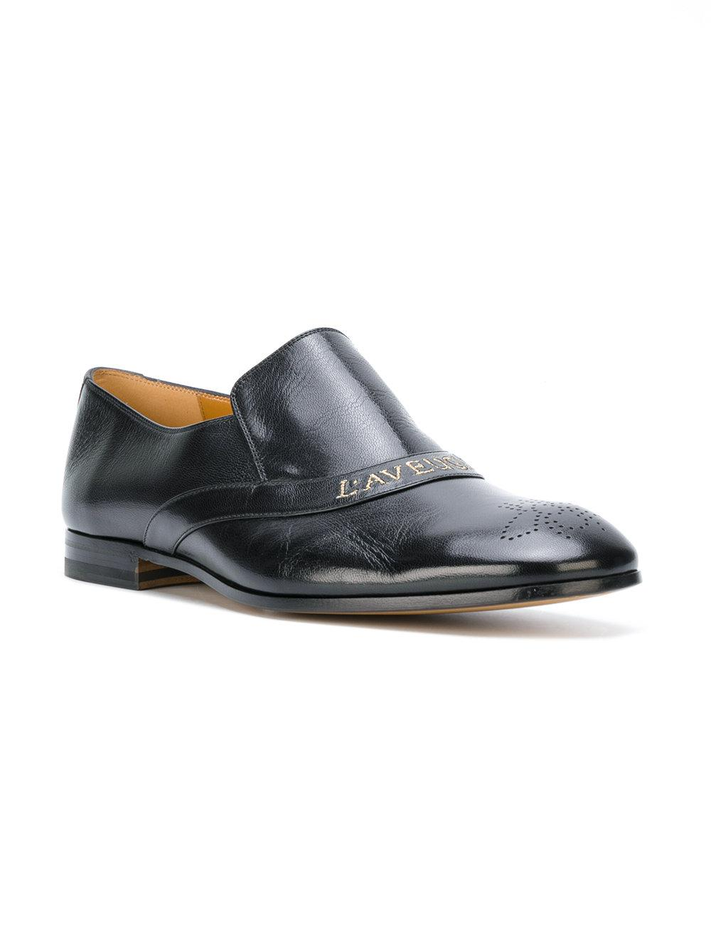 781263467eb Lyst - Gucci Embroidered Loafers in Black for Men