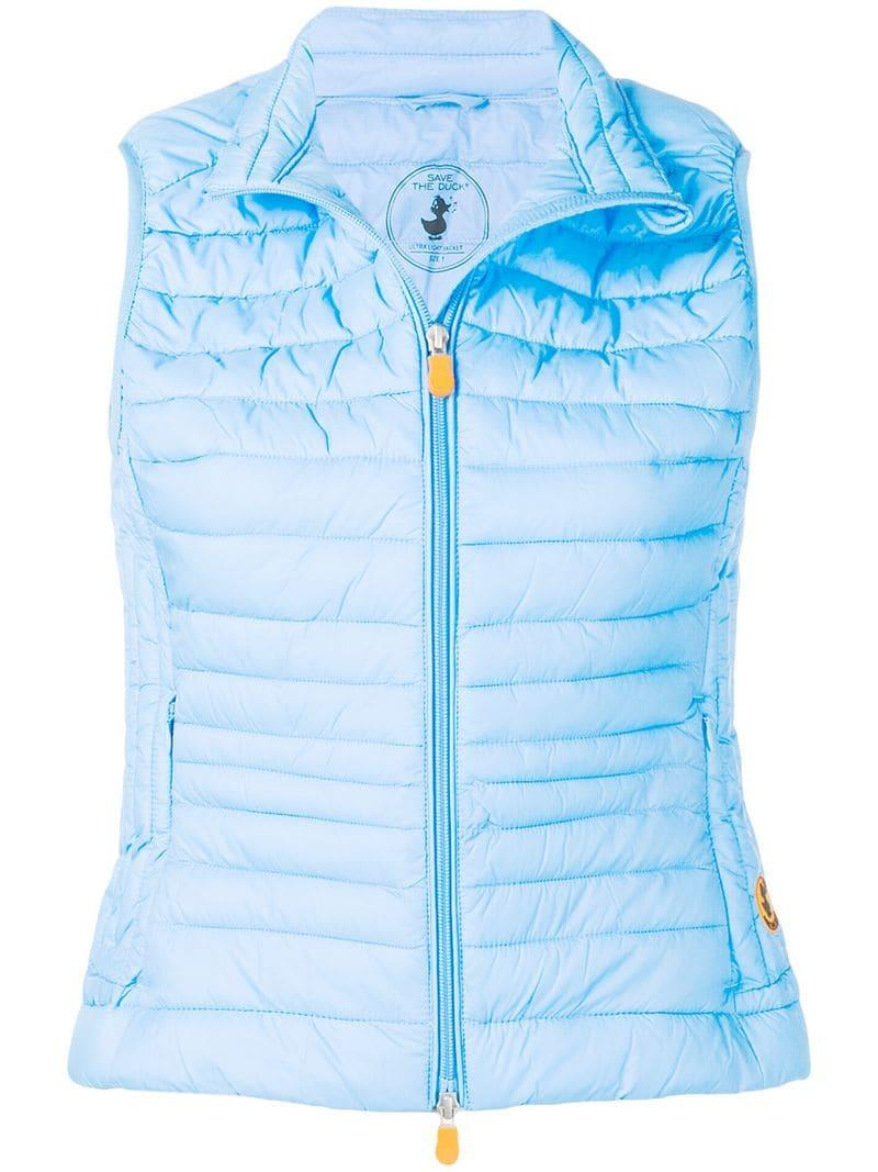 fa45a3ddf67 Save The Duck Short Padded Gilet in Blue - Lyst