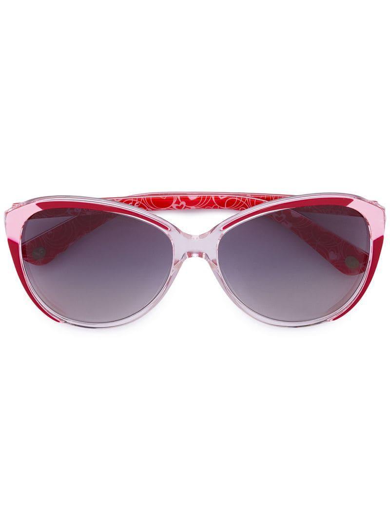 Lyst - Lunettes à monture papillon Vogue Eyewear en coloris Rouge 43862bfbab14