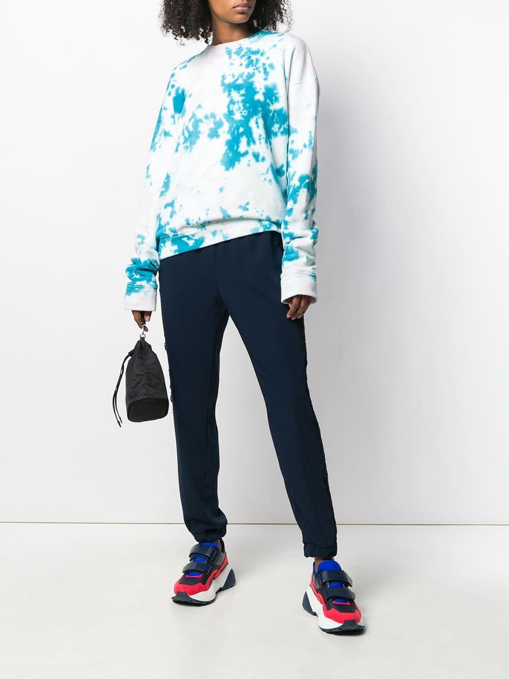 Pants In Lace Ermanno Scervino Detail Lyst Blue Track CWBdxoQre