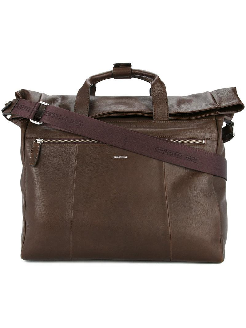 2d1a492030 Cerruti 1881 Large Holdall Tote Bag in Brown for Men - Lyst