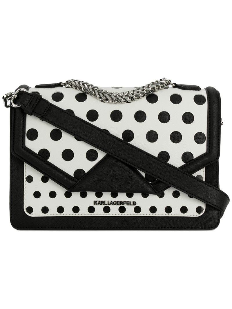 0f45116d76bb Lyst - Karl Lagerfeld K klassik Polka Dot Bag in Black