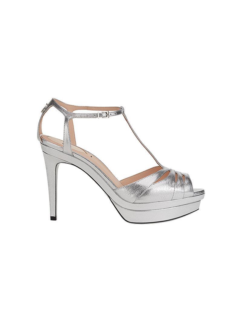 8f949a1f7 Lyst - Fendi Open-toe Strappy Sandals in Gray