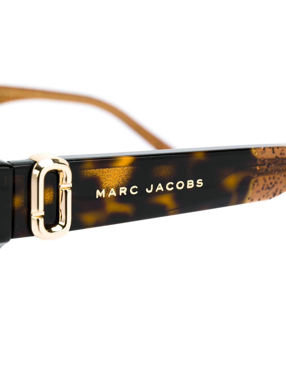 58e6981097 Marc Jacobs - Brown Tortoiseshell Square Glasses - Lyst. View fullscreen