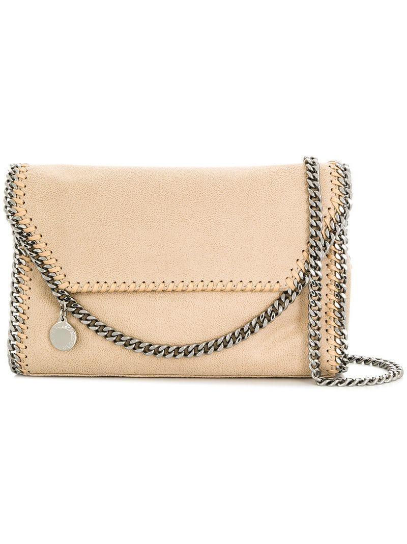 019532e97c9 Stella Mccartney Falabella Shoulder Bag in Natural - Lyst