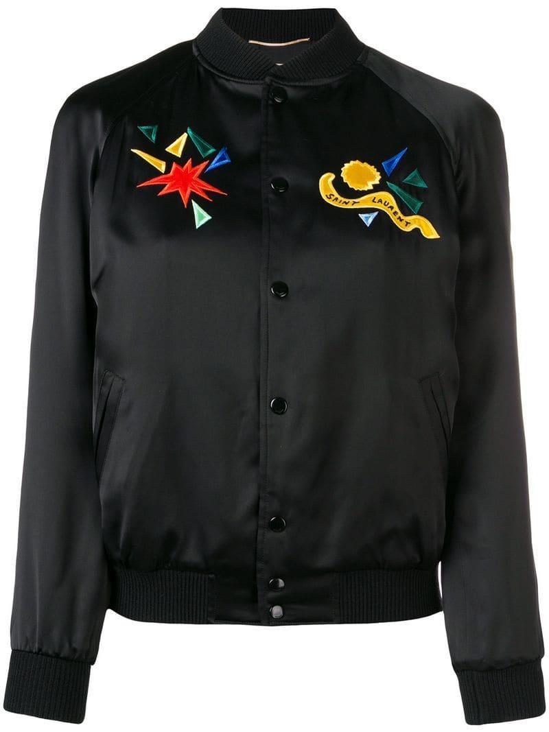 cd36906aba Saint Laurent Teddy Jacket in Black - Lyst