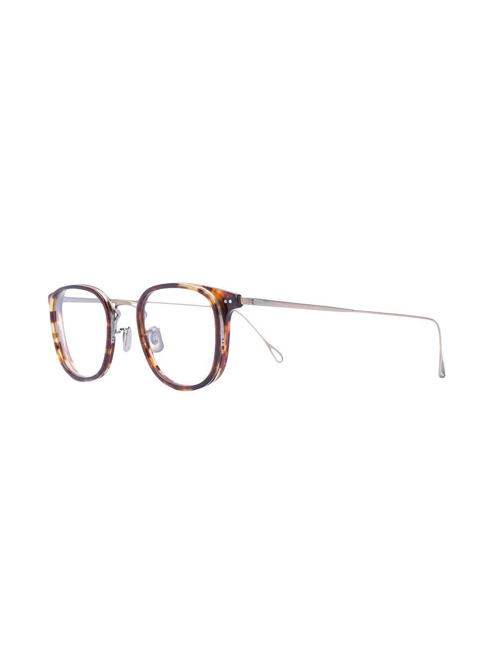79b7edce36d4 Lyst - Eyevan 7285 Tortoiseshell Square Frame Glasses in Brown