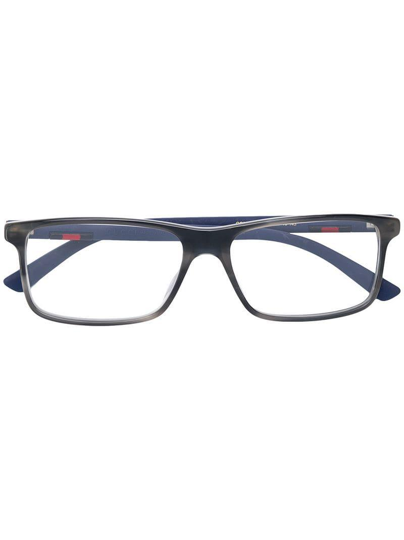 664a57c674 Gucci Rectangular Glasses in Gray for Men - Lyst