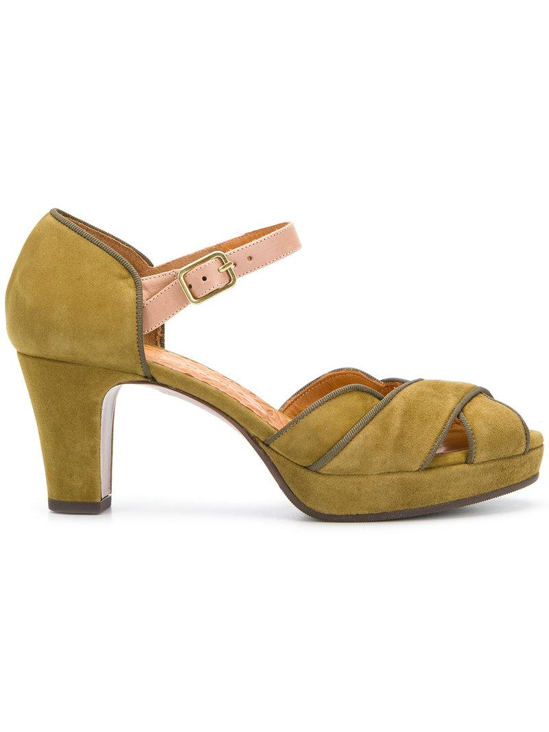 Chie Mihara. Women's Green Isy Sandals