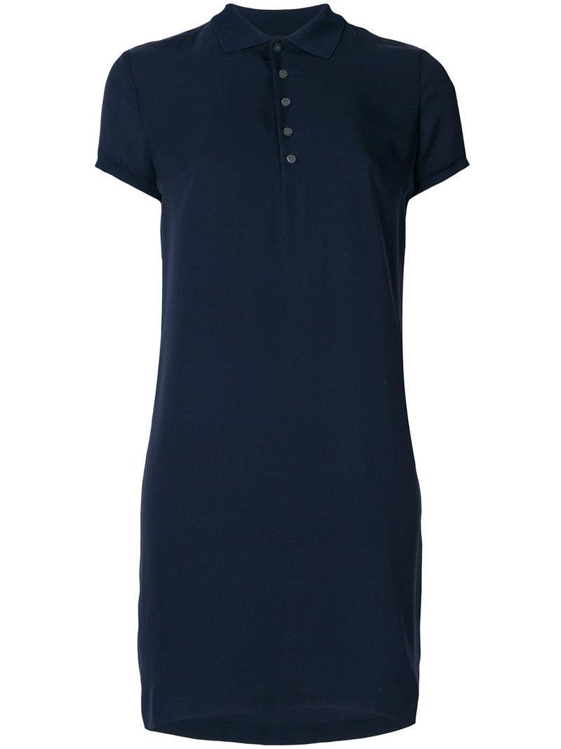 Lyst Polo Ralph Lauren Polo Collar Dress In Blue