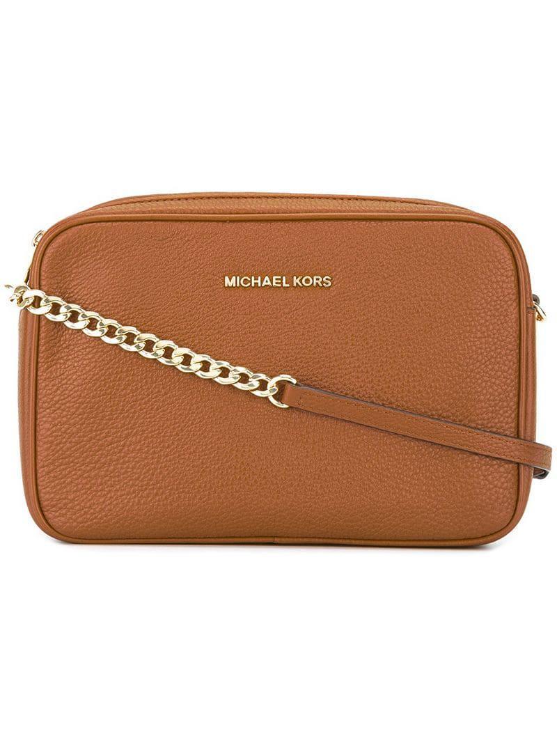 428390118655 MICHAEL Michael Kors 'jet Set Travel' Crossbody Bag in Brown - Lyst