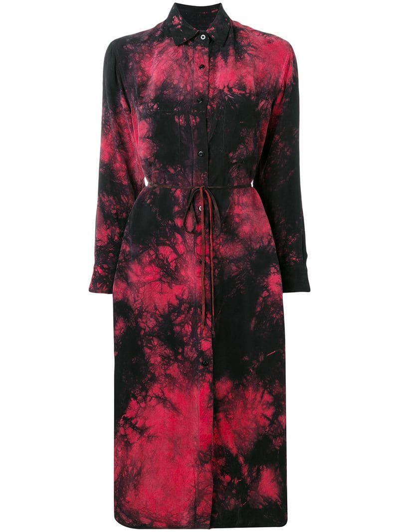 f135470dc5052 Amiri Reversible Shirt Dress in Red - Lyst